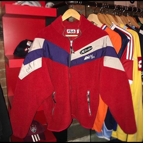 Vintage fila retro fleece ski jacket crazy!